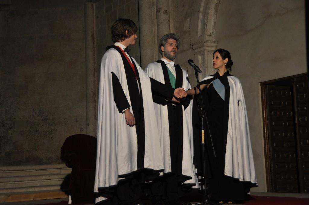 El Rey Basilio junto a Estrella y Astolfo